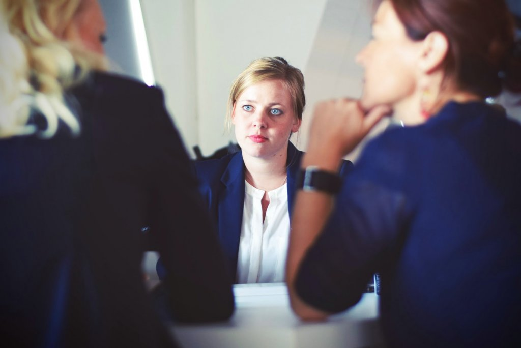 Woman employee discussing Employment Practices Liability